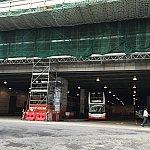 終点、東涌!建物改修工事中です。(;^_^A