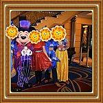 日本では仮装した事がない私もクルーズで仮装デビューしてみました♪60周年コスの素敵なお友達家族とご一緒させていただきまして私は白雪姫に(笑)ハロコスミッキーに会えます🍀