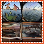 ハロウィン仕様な窓と船内の絵画♪