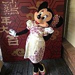 ミニーちゃんはこんな愛らしいポーズを取ってくれました