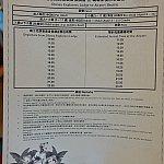 エクスプローラーズロッジの空港シャトルの時刻表。イラストも入っていて、ハリウッドホテルよりも豪華かも?