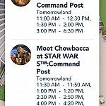 グリーティング当日の様子。 BB8に比べて、チューバッカのスケジュールは細かい💦