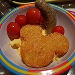 ミッキー型のハッシュポテト