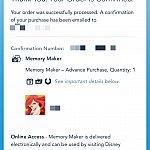 サイトでメモリーメーカーを購入すると、このような画面が表示されます。