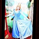 オーロラ姫はブルーのドレス!「ピンク!ブルー!」と言い合う妖精の声が聞こえてきそうです。