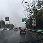 浦東空港から迎宾高速 S1を走って来ると南六公路の標識が見える。茶色のディズニーの標識も同じ方向を指している。