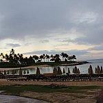 サンライズヨガ終了後のビーチの写真です。空気が澄んでいて本当に気持ちが良い☆