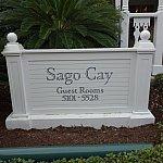 宿泊したSAGO CAYの看板。
