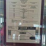 ランブラーガーデンホテルの2016年1月当時のバスの時刻表