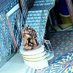 ロビーにある銅像!マジック号のメインキャラクターはミッキーです!