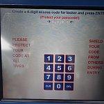 4ケタの暗証番号を決めれば、ロッカー番号が表示されます。