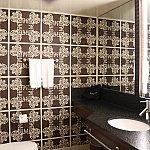 バスルーム。茶色をベースにしてます。