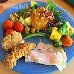 サラダはもちろん温野菜もあり、ビタミン不足解消に嬉しいメニューも豊富です☆