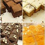 もちろんデザートだってたくさん種類があるんです!ブラウニー、チョコレートケーキ、ホワイトチョコケーキ、マンゴーのパンナコッタ