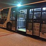 降りてから浦東空港までバス移動でした。