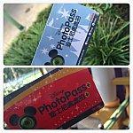 最初にフォトパスのカメラマンから青いカードを受け取ります。フォトパスプラスを購入すると赤いカードを貰えます。