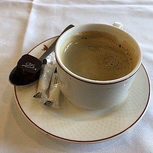 食後のコーヒーです 別料金ではなかったようなので、言えば頂けるようです