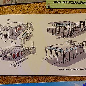 駅舎のデザインはいろいろ検討されたようです。