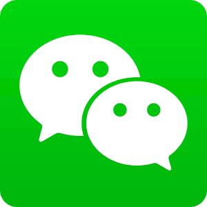 WeChatのマークです。 中国版LINE的なものになります。