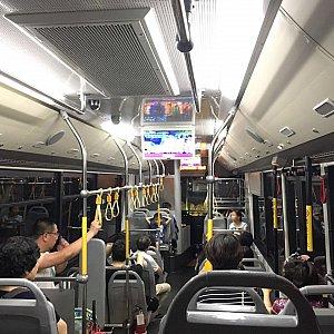 バスの中はディズニーランドのプロモーションが流れているのみで、他はディズニー色無し。