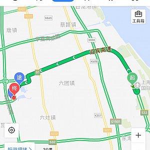 """T1から""""西公交枢纽(ターミナル)""""までの最短距離です。"""