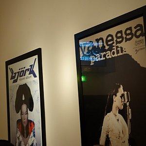 ビョークのポスター!他にもエリック・クラプトンなどの著名人のポスターが飾られていました。