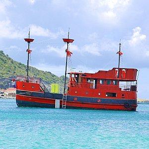セントマーティン島 遊覧船