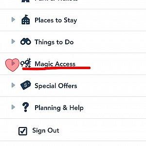 するといくつか項目が出てくるのでマジックアクセスを選択します。