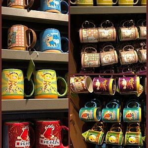 干支キャラクターのマグカップ 各65元 卯年(とんすけ)だけなかったです