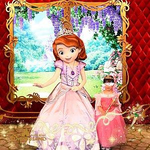 ソフィア姫は仕草がアニメのままでした。 2人のプリンセスとの写真のデータまで含まれているなんて、お得なパッケージです。
