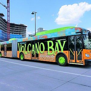ユニバーサル・シティー・ウォークとの往復の場合は、VOLCANO BAYのロゴが目印のバスに乗ります。