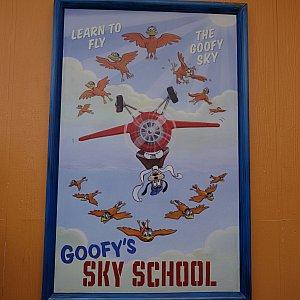 Goofy's Sky Schoolのポスター