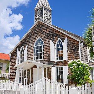 セントマーティン島 中心部の教会