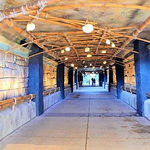 素敵な地下道を通過!
