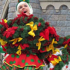ダンサーさんのクリスマス衣装も素敵です!
