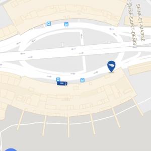 アプリで配車された車の現在地確認