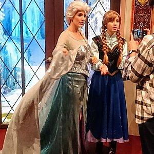 エルサとアナに会えるのは、ディズニーアニメーションの建物内にある『ロイヤルウェルカム』。午前中の方が空いてました。