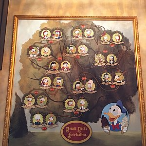 店内にはドナルドの家系図がありました。