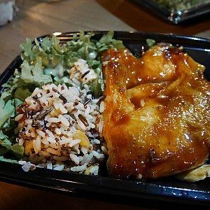【BBQチキン】少し癖がありましたが、チキンは柔らかく美味しかったです!