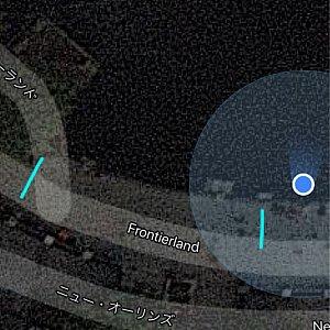 水色のラインを引いているこのエリアが、ハングリーベアーのエリアでした。右側の水色ラインに丁度私が座っていた形になります。(マップ右側にある青色の丸のすぐ左下に小さな木箱のようなものがみえるのが分かりますか? その木箱がブルーとハングリーの境界線でした。)
