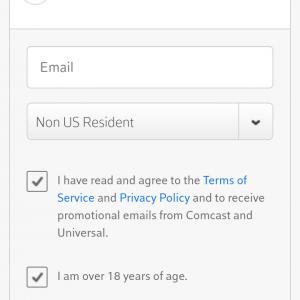 Emailは入力なしで、この画面のように選択してボタンを押せば接続できました。