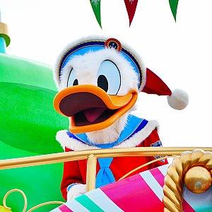 サンタ帽をかぶったドナルド!帽子がビュンビュンになるほどダンスしてる姿が可愛かったです