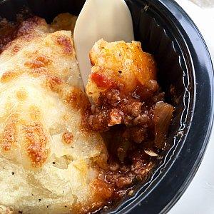 まず、ここで食べたのがEscondidinho de Carne。ユカ芋のマッシュポテトの下にミートパイが入っています。これ美味しいし、お腹にもたまります。星⭐︎⭐️⭐️⭐️⭐︎。