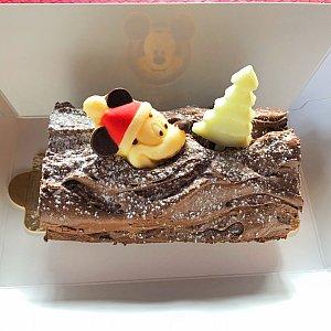 クリスマスログケーキ 45元 ロールのうずまきが見えるように撮れば良かった^^;