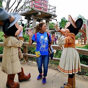 最後の最後、バイバイの瞬間までミッキーとミニーちゃんは最高でした!!本当に大好きです!!!ここでまんまとハマり次の時間帯に再度訪問(単純)