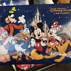上海ディズニーオリジナルのサインブック 69元