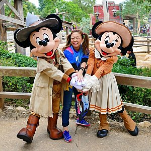 2人のおかげで香港で一番幸せな時間を過ごす事が出来ました!!!ミッキーとミニーちゃん本当にありがとう!!!!!