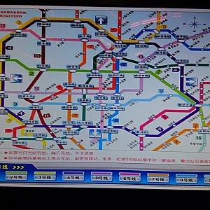 乗る線の数字をタッチして、行きたい駅をタッチします。