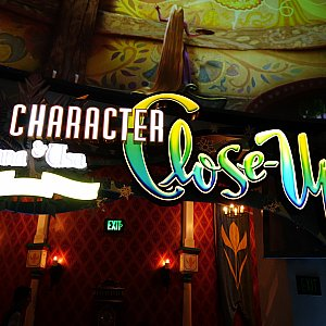アナ&エルサグリの会場は「キャラクター・クローズアップ」というこの看板が目印です!