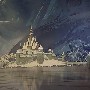 アレンデール城のどアップ。
